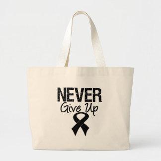 Nunca dé para arriba (el melanoma) bolsa de mano