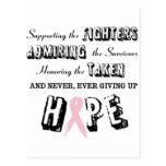 Nunca dé para arriba - el rosa tarjetas postales