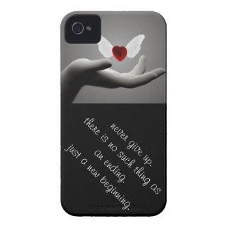 """""""Nunca dé para arriba """" iPhone 4 Case-Mate Funda"""