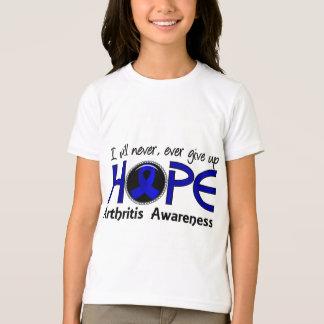 Nunca dé para arriba la artritis de la esperanza 5 playera