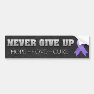Nunca dé para arriba la conciencia del linfoma de etiqueta de parachoque