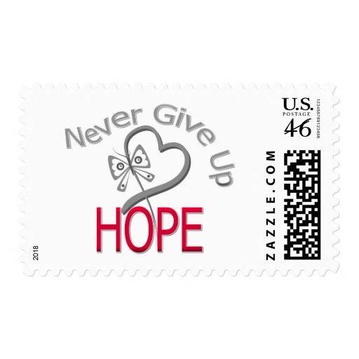 Nunca dé para arriba la diabetes de la esperanza sellos