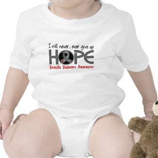 Nunca dé para arriba la diabetes juvenil de la esp traje de bebé