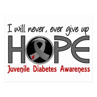 Nunca dé para arriba la diabetes juvenil de la postales