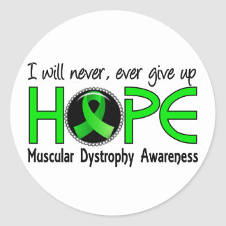 Nunca dé para arriba la distrofia muscular de la e pegatina redonda
