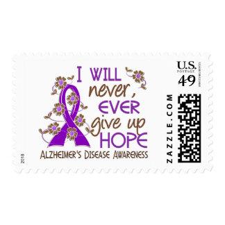 Nunca dé para arriba la enfermedad de Alzheimer de Sellos Postales