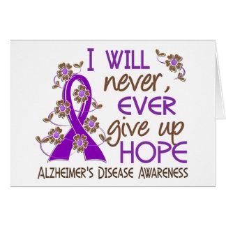 Nunca dé para arriba la enfermedad de Alzheimer de Felicitaciones