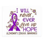 Nunca dé para arriba la enfermedad de Alzheimer de Postal