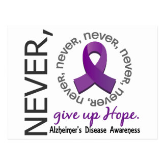 Nunca dé para arriba la enfermedad de Alzheimer de Tarjetas Postales