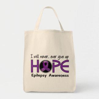 Nunca dé para arriba la epilepsia de la esperanza bolsa tela para la compra