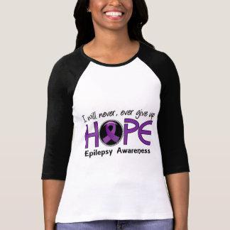 Nunca dé para arriba la epilepsia de la esperanza camisas