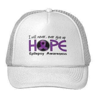 Nunca dé para arriba la epilepsia de la esperanza gorro
