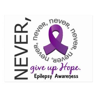 Nunca dé para arriba la epilepsia de la esperanza postal