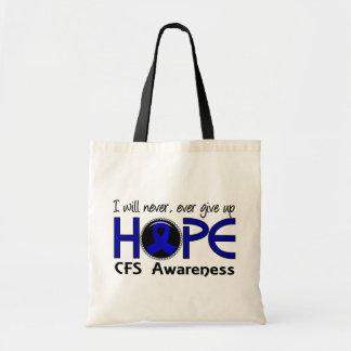 Nunca dé para arriba la esperanza 5 CFS Bolsa Lienzo