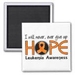 Nunca dé para arriba la leucemia de la esperanza 5 iman de frigorífico
