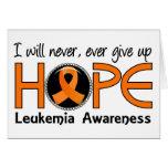 Nunca dé para arriba la leucemia de la esperanza 5 tarjeton
