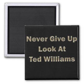 Nunca dé para arriba la mirada en Ted Williams Imán Cuadrado