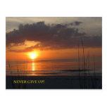 Nunca dé para arriba la playa anaranjada de la pue tarjetas postales