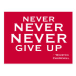 Nunca dé para arriba - la postal de motivación