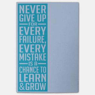 Nunca dé para arriba las notas de post-it de motiv post-it notas