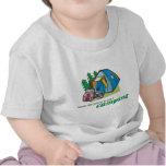 Nunca demasiado joven comenzar a acampar camiseta