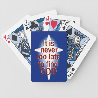 Nunca demasiado tarde baraja cartas de poker
