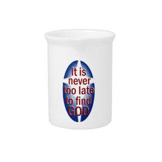 Nunca demasiado tarde jarras de beber