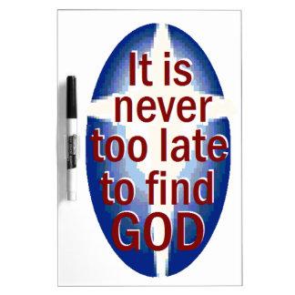 Nunca demasiado tarde pizarras