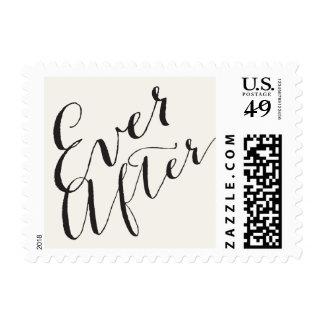 Nunca después de sellos del boda de la caligrafía
