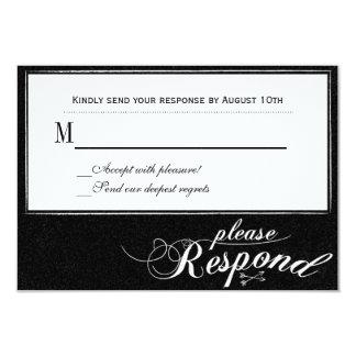 """Nunca después de tarjeta de la respuesta de la invitación 3.5"""" x 5"""""""