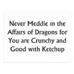 Nunca dragones postal