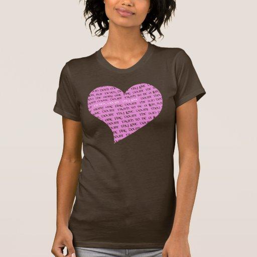 Nunca dude Thy corazón del amor Camisetas