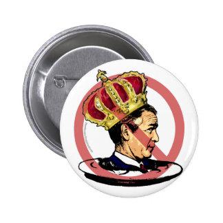 Nunca el presidente peor Anti Bush Gear Pin Redondo De 2 Pulgadas