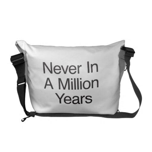 Nunca en millón de años bolsa de mensajeria