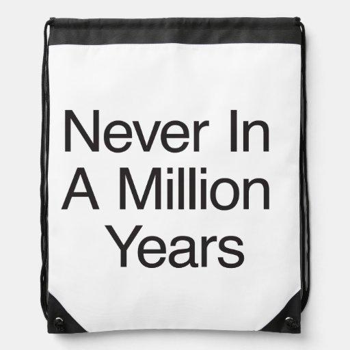 Nunca en millón de años mochila