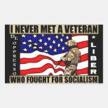 ¡Nunca encontré a un veterano que luchó para el so Rectangular Pegatina