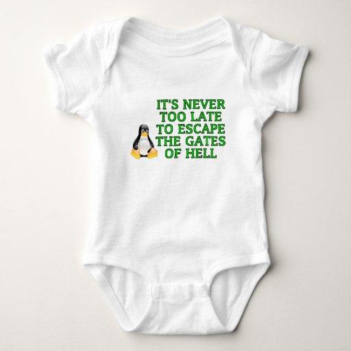 Nunca es demasiado atrasado escapar las puertas body para bebé