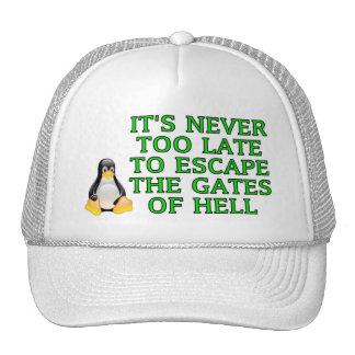 Nunca es demasiado atrasado escapar las puertas de gorra