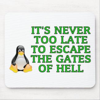 Nunca es demasiado atrasado escapar las puertas de alfombrilla de ratón