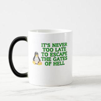 Nunca es demasiado atrasado escapar las puertas de tazas de café