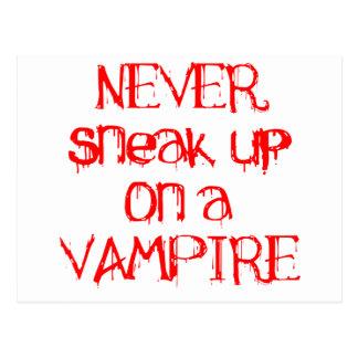 Nunca escabúllase para arriba en un vampiro postales