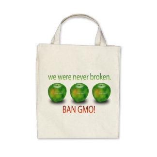 Nunca estábamos quebrados. Prohibición GMO Bolsa Lienzo