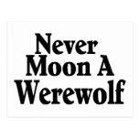 Nunca esté en la luna un hombre lobo postal