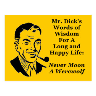 Nunca esté en la luna un hombre lobo postales