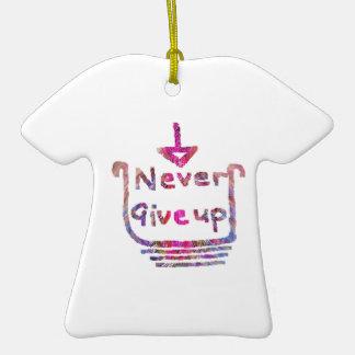 Nunca giveup - presentación de motivación artístic ornamento de navidad