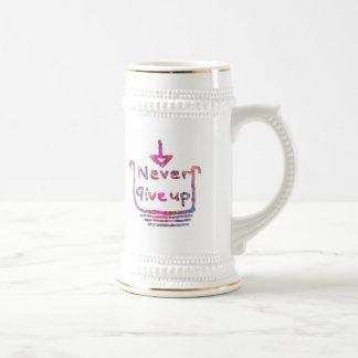 Nunca giveup - presentación de motivación artístic tazas