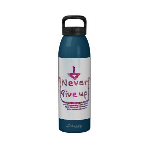 Nunca Giveup - presention de motivación artístico Botellas De Beber
