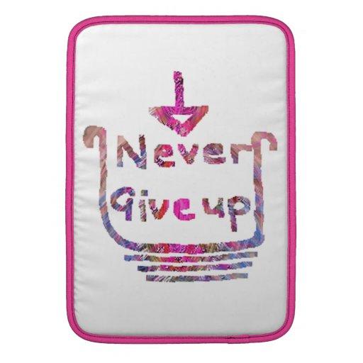 Nunca Giveup - presention de motivación artístico Funda Macbook Air