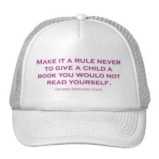 Nunca hágale una regla para dar un libro gorro de camionero