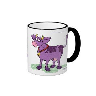 Nunca he visto una vaca púrpura taza de dos colores